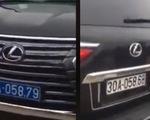 Vụ xe Lexus mang 2 biển kiểm soát: Biển màu trắng là giả