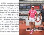 Federer viết Facebook chúc mừng