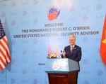 Cố vấn an ninh Mỹ O'Brien: Mỹ và Việt Nam tôn vinh những giá trị giống nhau