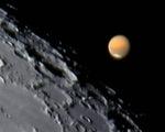 Xem Mặt trăng, sao Hỏa 'kề nhau' tối 26-11