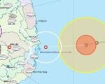 4h ngày 10-11, tâm bão 12 ngay trên biển Bình Định đến Ninh Thuận