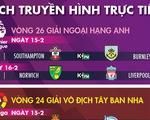 Lịch trực tiếp bóng đá châu Âu ngày 15-2: Liverpool sẽ