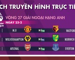 Lịch trực tiếp bóng đá châu Âu 23-2: MU và Arsenal quyết có 3 điểm