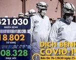 Dịch COVID-19 sáng 25-3: Ý thêm 743 ca tử vong, Mỹ nhiễm thêm gần 10.000 ca