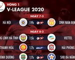 Lịch trực tiếp vòng 1 V-League 2020 cuối tuần