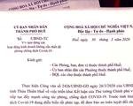 Để lộ văn bản chống dịch COVID-19 chưa được thông qua, Phòng Kinh tế Huế bị kiểm điểm