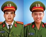 Thăng cấp bậc hàm hai cán bộ, chiến sĩ công an ở Đà Nẵng hi sinh