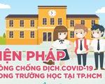 Trường học TP.HCM áp dụng biện pháp nào phòng COVID-19?