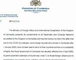 Campuchia tự động gia hạn visa cho du khách bị kẹt lại