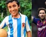 """Cậu bé 12 tuổi đá phạt giống Messi gây """"sốt"""" trên mạng xã hội"""