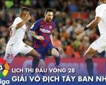 Lịch trực tiếp vòng 28 La Liga: Thế giới chờ La Liga trở lại