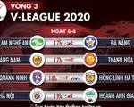 Lịch trực tiếp V-League 2020: