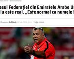 HLV Cosmin Olaroiu được mời dẫn dắt đội tuyển UAE chuẩn bị cho trận gặp Việt Nam