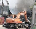 Vụ cháy kho hóa chất ở Long Biên: Có dấu hiệu sản xuất hóa chất