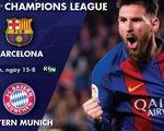 Lịch trực tiếp tứ kết Champions League: