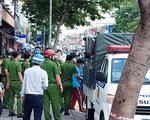 Thực nghiệm hiện trường vụ cháy chi nhánh Ngân hàng Eximbank ở Gò Vấp