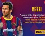 Messi xin lỗi và mong muốn kết thúc mọi tranh cãi ở Barca