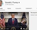 YouTube đình chỉ kênh của ông Trump