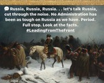 Bộ Ngoại giao Nga dùng tranh Napoleon đáp trả Ngoại trưởng Mỹ