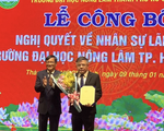 PGS.TS Huỳnh Thanh Hùng làm quyền hiệu trưởng ĐH Nông lâm TP.HCM