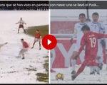 """""""Cầu vồng tuyết"""" của Quang Hải sánh vai với bàn thắng đoạt Puskas ở Top 10 siêu phẩm trên tuyết"""