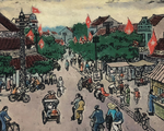 Ngắm Hà Nội đẹp tươi ngày giải phóng thủ đô trong tranh của nhiều danh họa