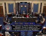 Thượng viện Mỹ: luận tội ông Trump là hợp hiến