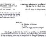Đắk Lắk: Lan truyền văn bản giả mạo nghỉ học 'hết sức ngớ ngẩn'