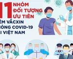 11 nhóm đối tượng được ưu tiên tiêm vắc xin COVID-19 tại Việt Nam