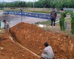Vụ đào cống xả nước thải xuống hang ngầm: phạt doanh nghiệp hơn 1,2 tỉ đồng