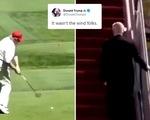 Đăng clip chế ông Biden té, con trai ông Trump bị chê