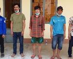 5 thanh niên từ Campuchia bơi qua sông biên giới, bị bắt trên đất liền Việt Nam