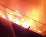 Cháy bãi xe CSGT thành phố Thủ Đức