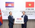 Việt Nam hỗ trợ Campuchia hơn 4,5 tỉ đồng ứng phó COVID-19