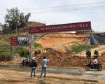 Cát đỏ dự án Goldsand Hill Villa lại sạt lở ngập đường ở TP Phan Thiết