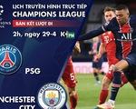 Lịch trực tiếp bán kết Champions League: Đại chiến PSG - Man City