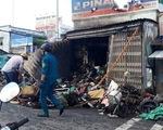 Cháy cửa hàng phụ tùng xe máy vào sáng sớm