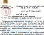 Giám đốc Công an Hà Nội đề nghị người dân tố giác người nhập cảnh trái phép