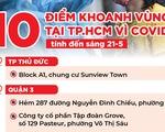 Cập nhật: Các địa điểm ở TP.HCM đang được khoanh vùng chống dịch
