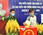 Cử tri xã đảo Thổ Châu, TP Phú Quốc đi bầu cử sớm