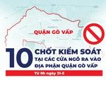 10 chốt kiểm soát ở cửa ngõ quận Gò Vấp cụ thể ra sao?