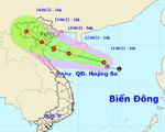 Áp thấp nhiệt đới có thể mạnh lên thành bão trên Biển Đông