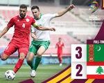 Việt Nam thêm cơ hội giành vé vòng loại World Cup khi Lebanon thua Turkmenistan, tại sao?