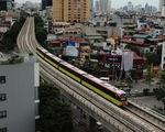 Sáng 1-7, các đoàn tàu metro Nhổn - ga Hà Nội chạy thử nghiệm 8,5km trên cao
