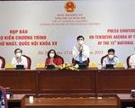 Quốc hội rút ngắn thời gian họp, Chính phủ giảm một phó thủ tướng