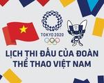 Lịch thi đấu ngày 27-7 của đoàn thể thao Việt Nam tại Olympic 2020: Huy Hoàng xuất trận