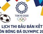 Lịch thi đấu bán kết bóng đá nam, nữ Olympic 2020