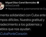 Chủ tịch nước Cuba bày tỏ lòng biết ơn và cảm tạ Việt Nam, bạn bè quốc tế