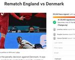 Hơn 20.000 người ký tên kiến nghị UEFA tổ chức đá lại trận Anh - Đan Mạch
