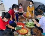 Ngọt ngào những bữa cơm cho người về quê cách ly